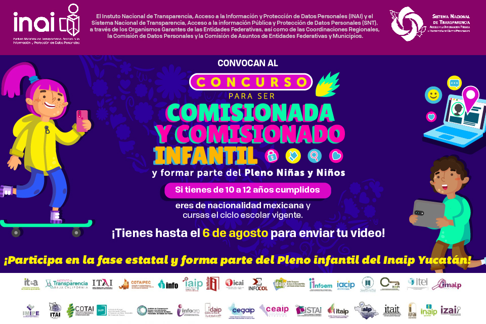 Convocan a niñas y niños a integrar el Pleno infantil del Inaip Yucatán