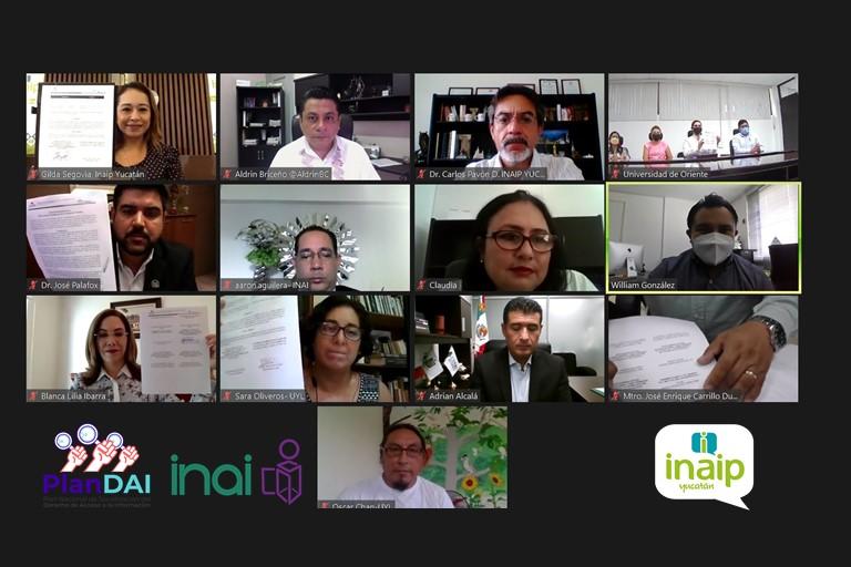 Instaló el Inaip Yucatán la Red Local de Socialización del DAI, edición 2021.
