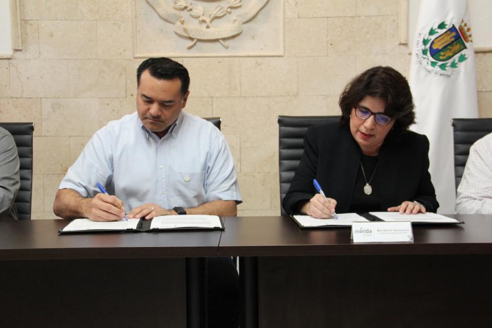 El objetivo principal del acuerdo, signado por la Comisionada Presidenta del órgano garante, María Eugenia Sansores Ruz y el Alcalde de Mérida, Renán Barrera Concha, es el trabajo coordinado para ejecutar actividades que permitan incrementar  el conocimie